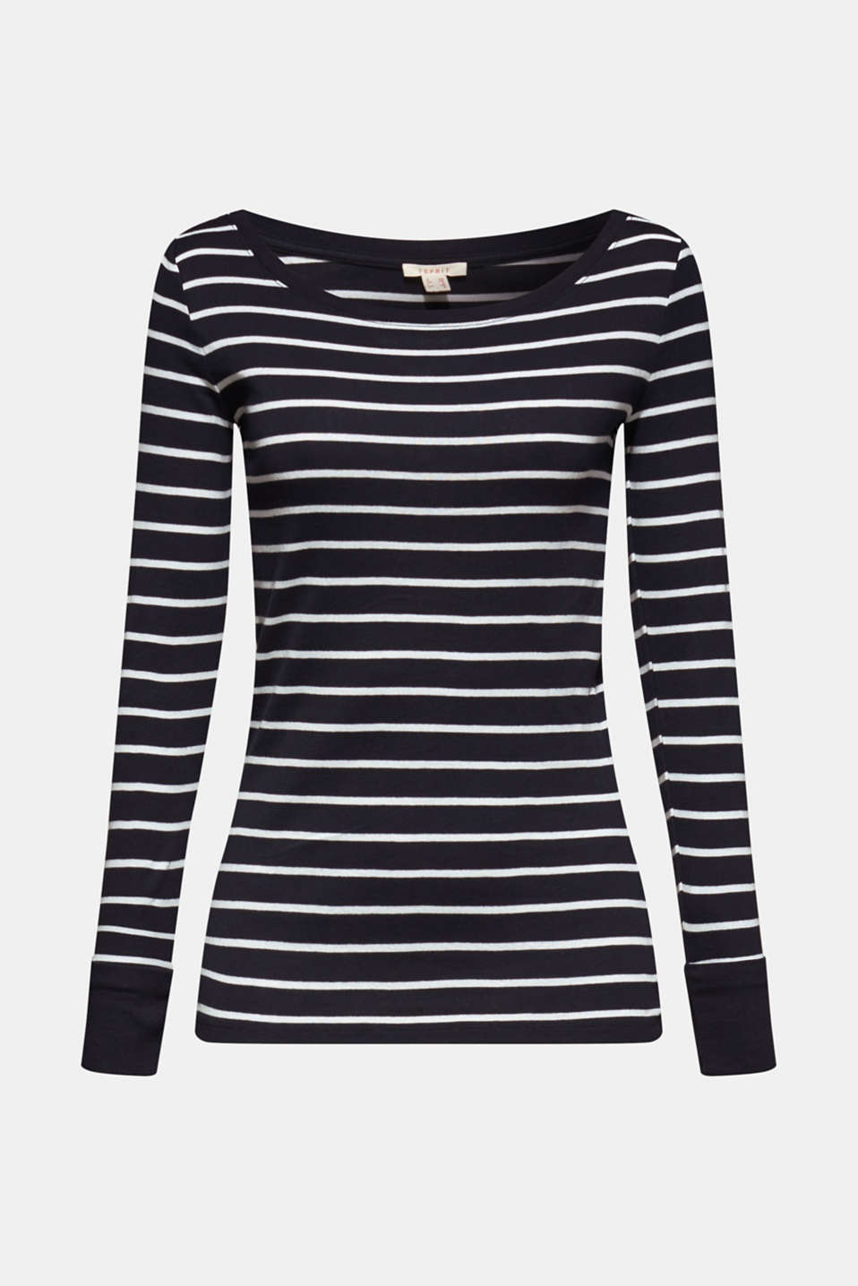 Long sleeve top made of 100% cotton, NAVY, detail image number 6