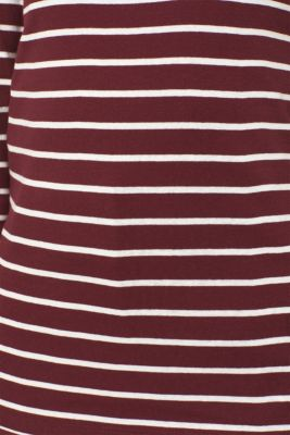 Long sleeve top made of 100% cotton, GARNET RED, detail