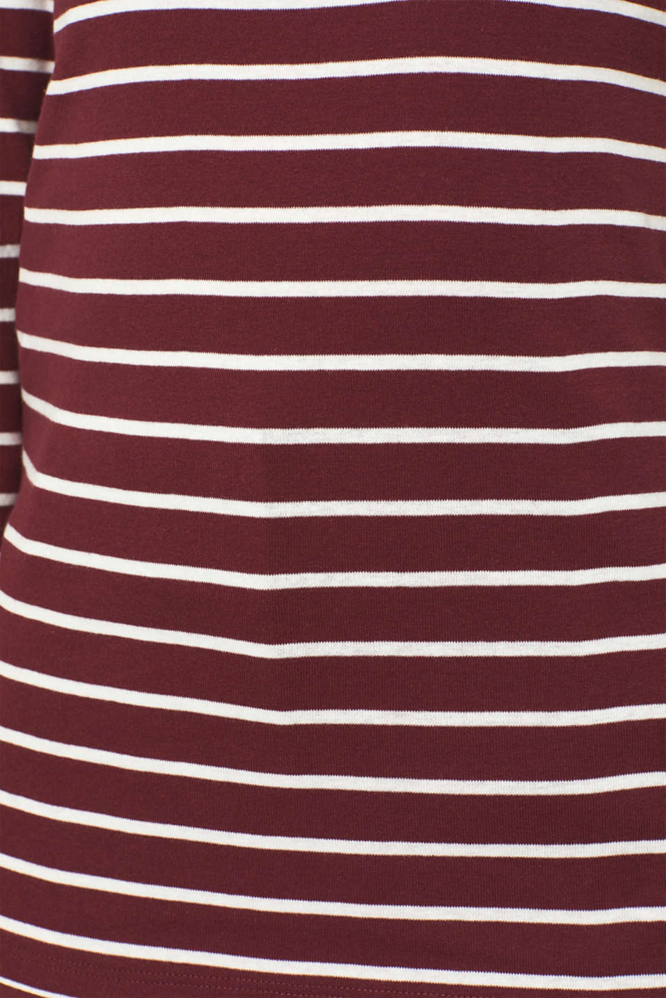 Long sleeve top made of 100% cotton, GARNET RED, detail image number 4