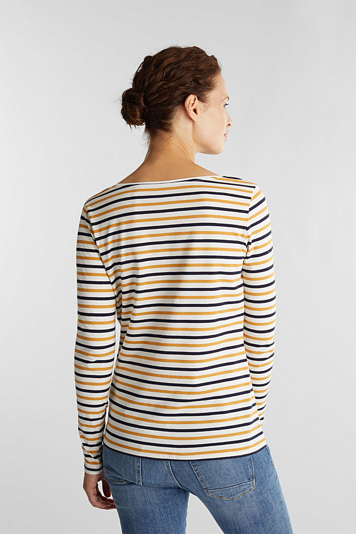 Striped long sleeve top, organic cotton, OFF WHITE, detail image number 3