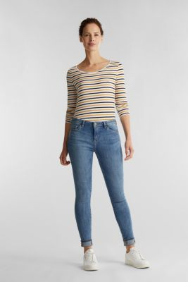 Striped long sleeve top, organic cotton, OFF WHITE, detail