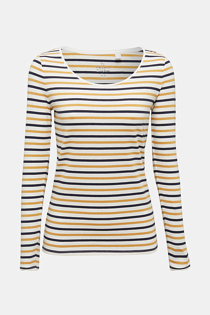 Striped long sleeve top, organic cotton, OFF WHITE, detail image number 6