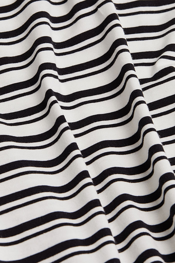 Striped long sleeve top with organic cotton, OFF WHITE, detail image number 4