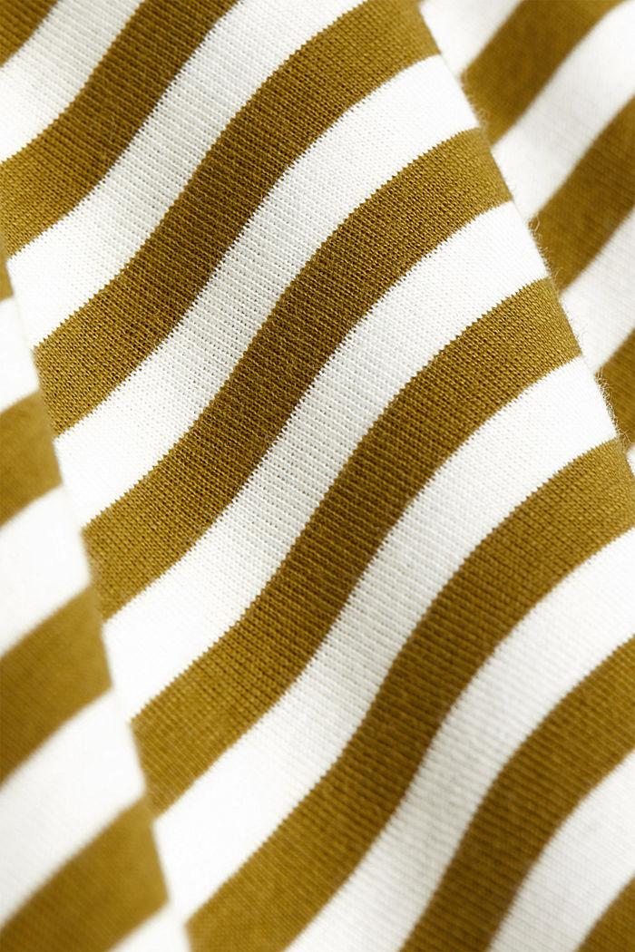 Bateau neckline top, 100% cotton, OLIVE, detail image number 4