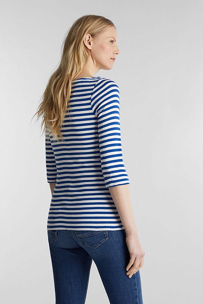 Bateau neckline top, 100% cotton, BRIGHT BLUE, detail image number 3