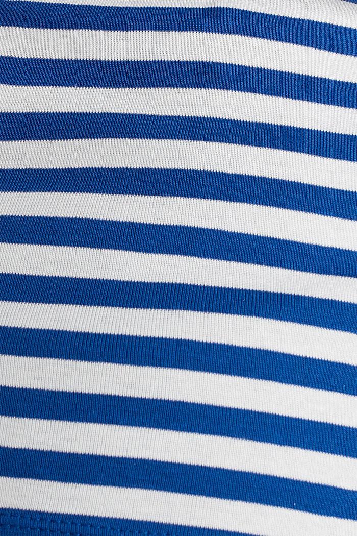 Bateau neckline top, 100% cotton, BRIGHT BLUE, detail image number 4
