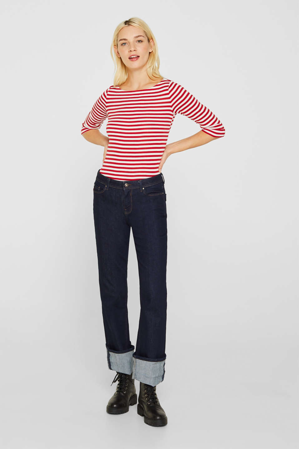 T-Shirts, DARK RED, detail image number 5