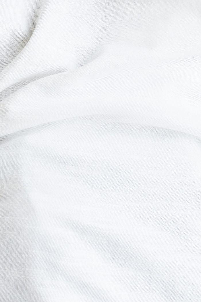 Airy slub top, 100% cotton, WHITE, detail image number 3