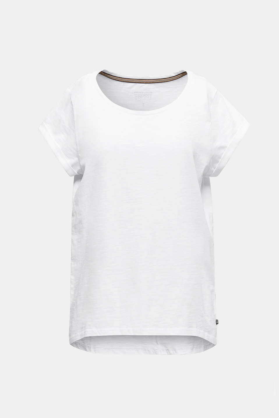 Airy slub top, 100% cotton, WHITE, detail image number 6