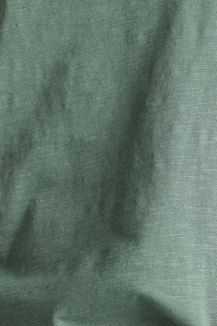 Luftiges Slub-Shirt,100% Baumwolle, KHAKI GREEN, detail image number 4