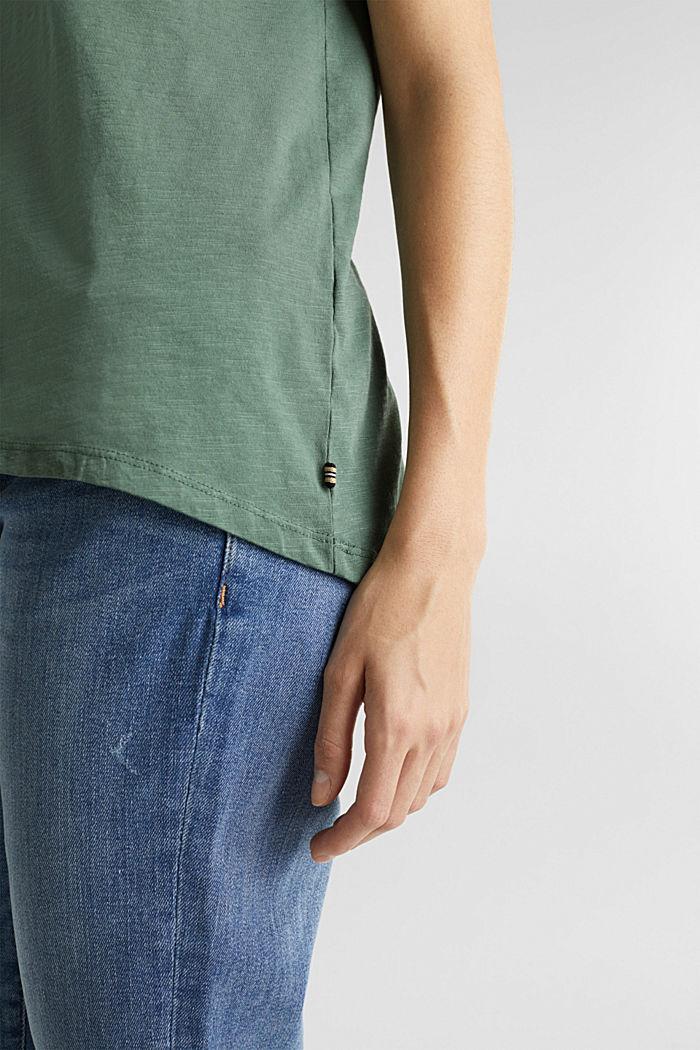 Luftiges Slub-Shirt,100% Baumwolle, KHAKI GREEN, detail image number 5