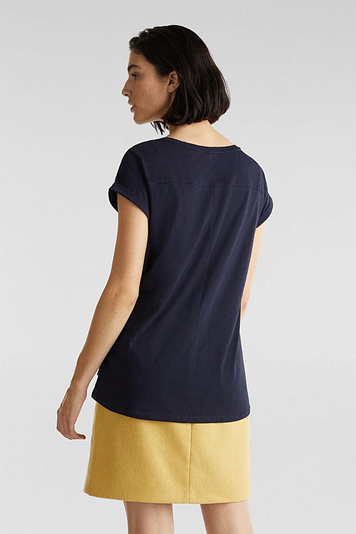 Luftiges Slub-Shirt,100% Baumwolle, NAVY, detail image number 3