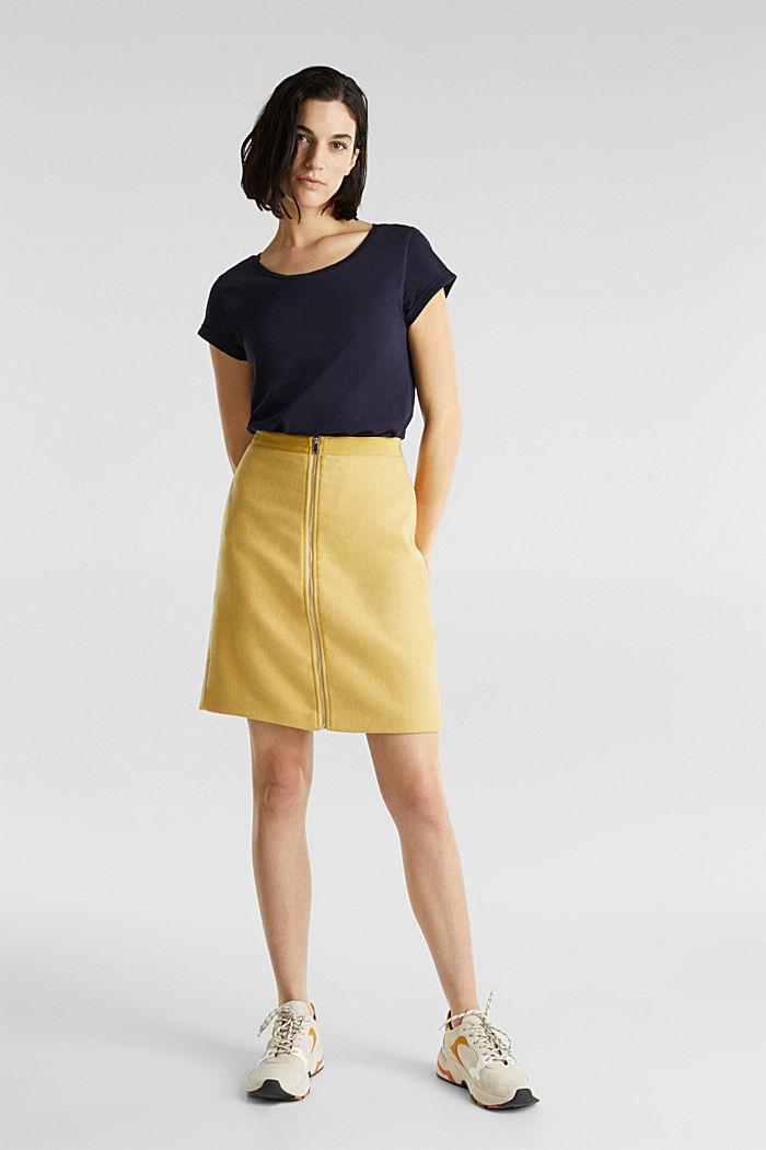 Luftiges Slub-Shirt,100% Baumwolle, NAVY, detail image number 1