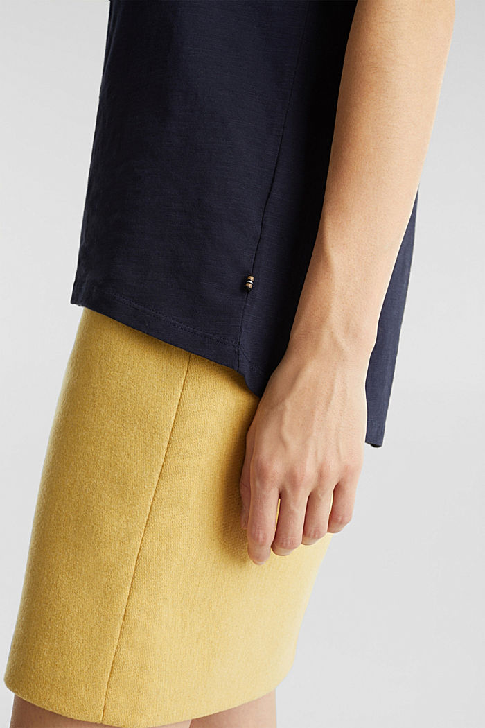 Luftiges Slub-Shirt,100% Baumwolle, NAVY, detail image number 2