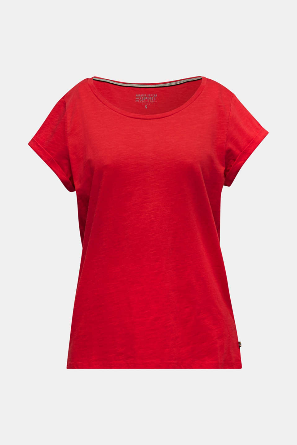 Airy slub top, 100% cotton, DARK RED, detail image number 5