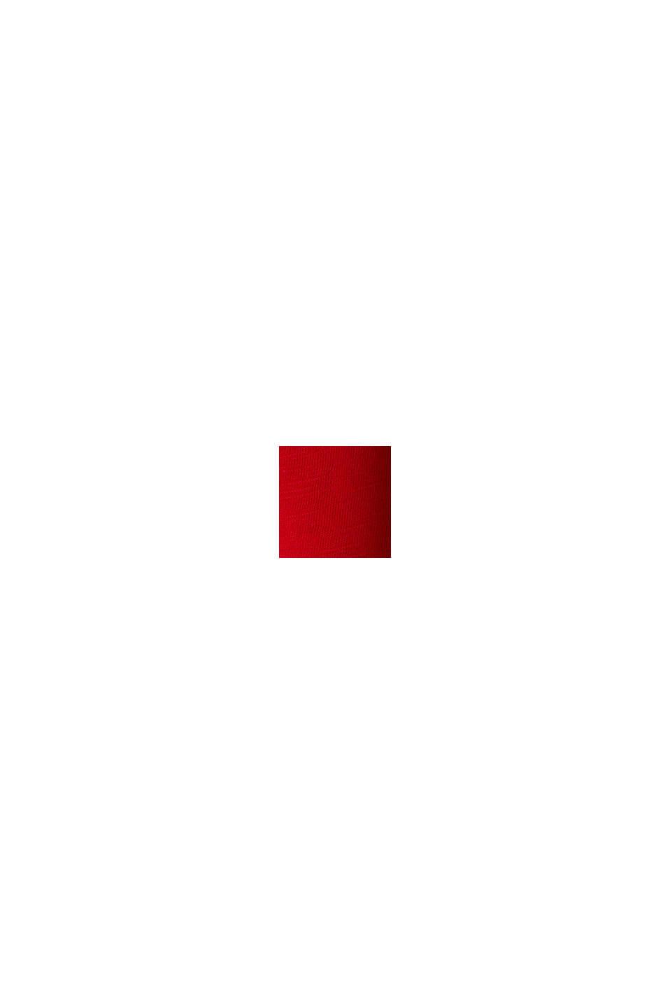 Luftiges Slub-Shirt,100% Baumwolle, DARK RED, swatch