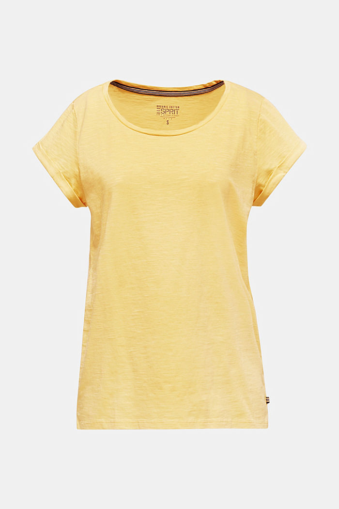 Airy slub top, 100% cotton
