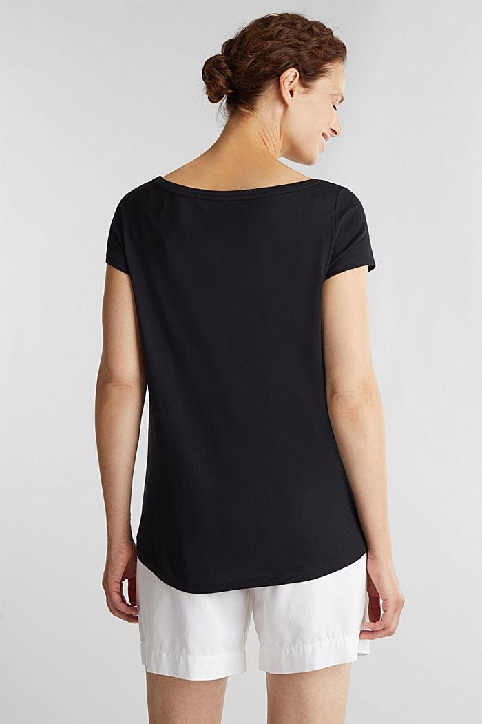T-Shirt aus Bio-Baumwolle und Modal, BLACK, detail image number 3