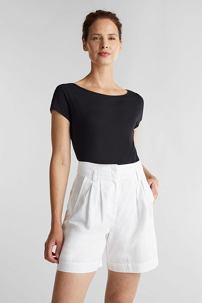 T-Shirt aus Bio-Baumwolle und Modal, BLACK, detail image number 5