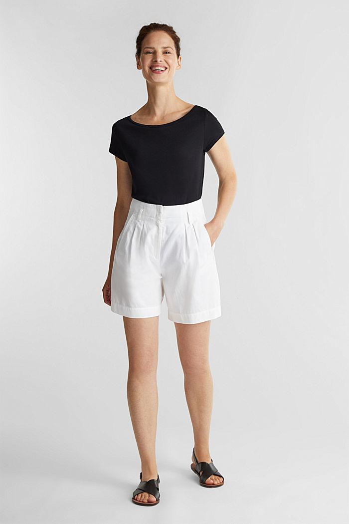 T-Shirt aus Bio-Baumwolle und Modal, BLACK, detail image number 1