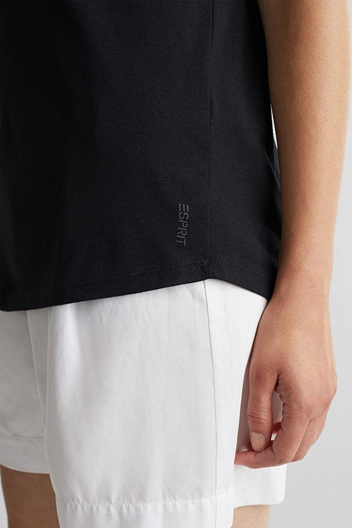 T-Shirt aus Bio-Baumwolle und Modal, BLACK, detail image number 2