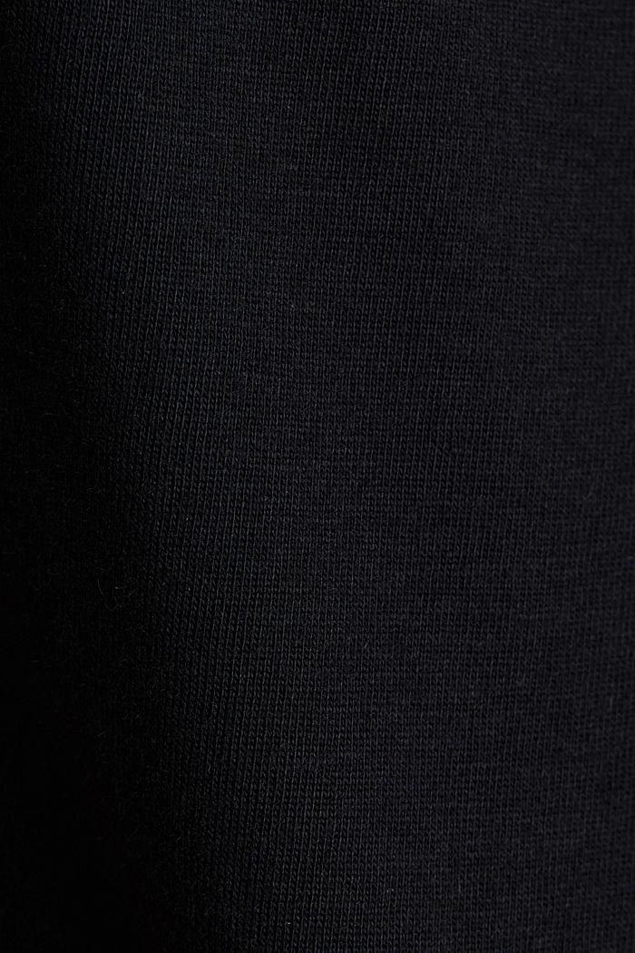 T-Shirt aus Bio-Baumwolle und Modal, BLACK, detail image number 4