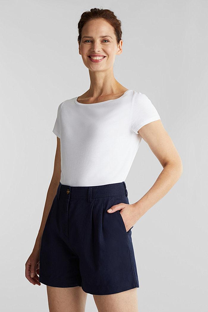 T-paita luomupuuvillaa ja modaalia, WHITE, detail image number 0