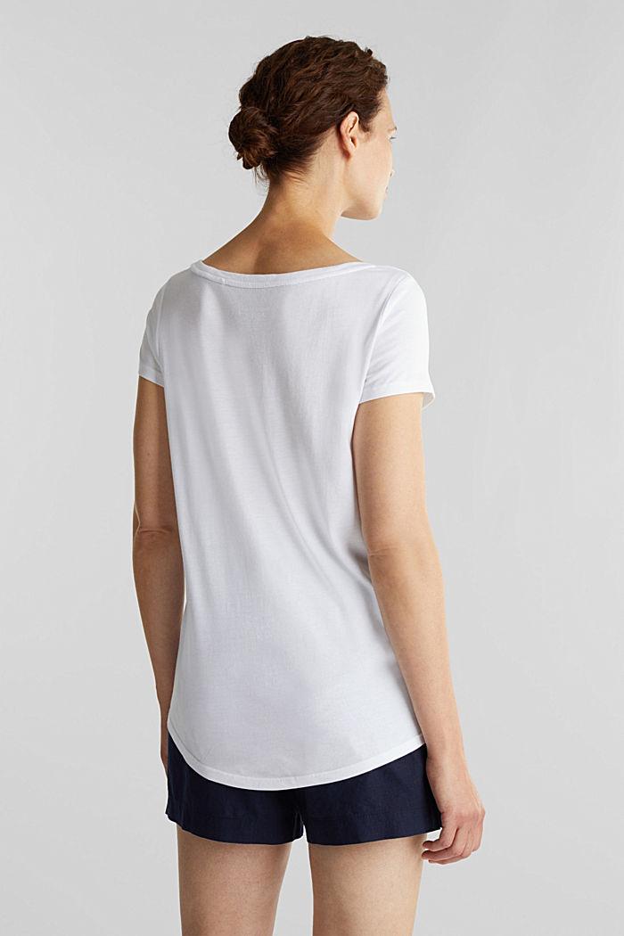 T-paita luomupuuvillaa ja modaalia, WHITE, detail image number 3