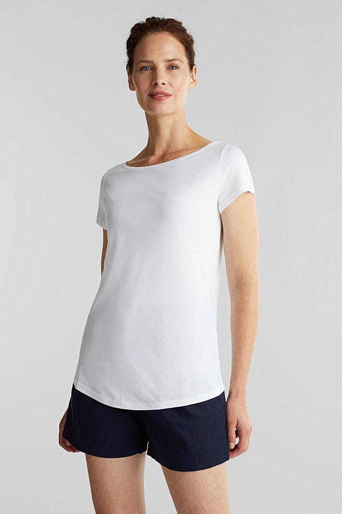 T-paita luomupuuvillaa ja modaalia, WHITE, detail image number 5