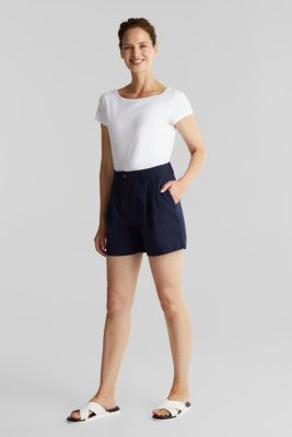 T-shirt made of organic cotton and modal, WHITE, detail