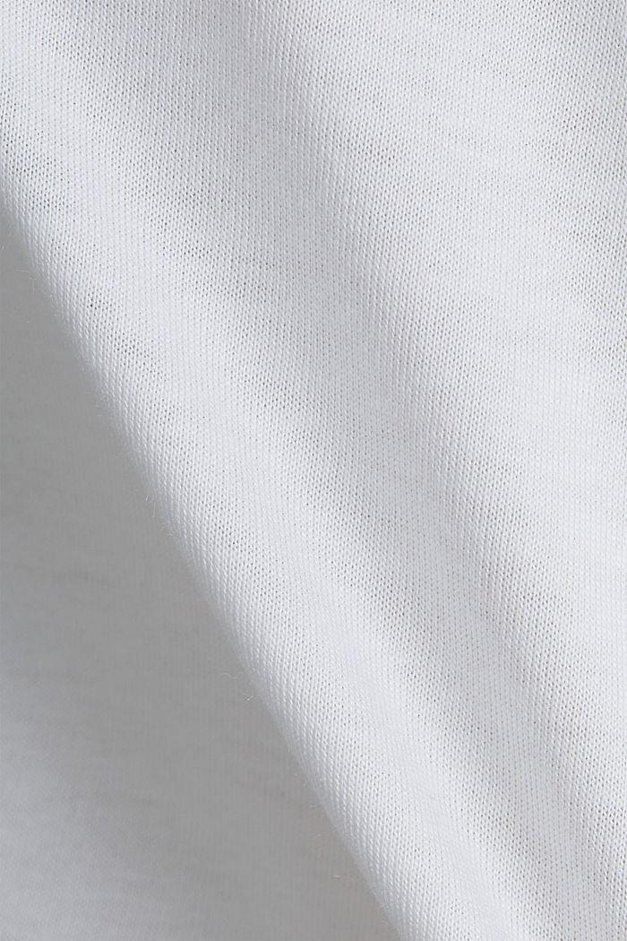 T-paita luomupuuvillaa ja modaalia, WHITE, detail image number 4