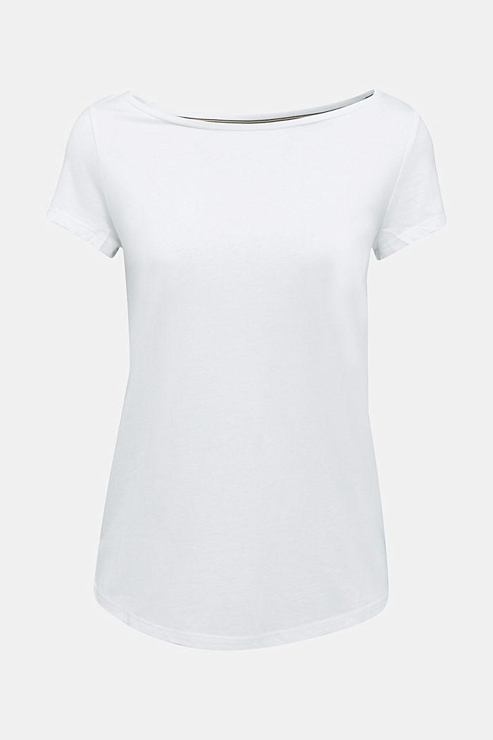 T-paita luomupuuvillaa ja modaalia, WHITE, detail image number 6