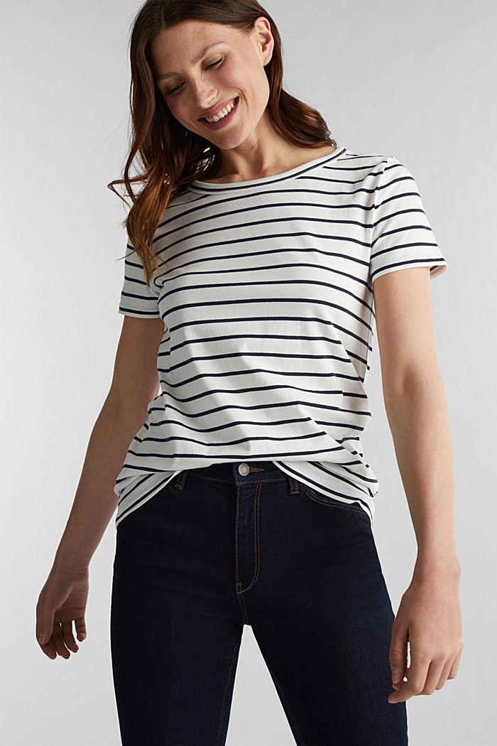 Shirt mit Streifen, 100% Baumwolle, OFF WHITE, detail image number 0