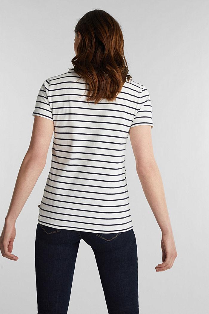 Shirt mit Streifen, 100% Baumwolle, OFF WHITE, detail image number 3