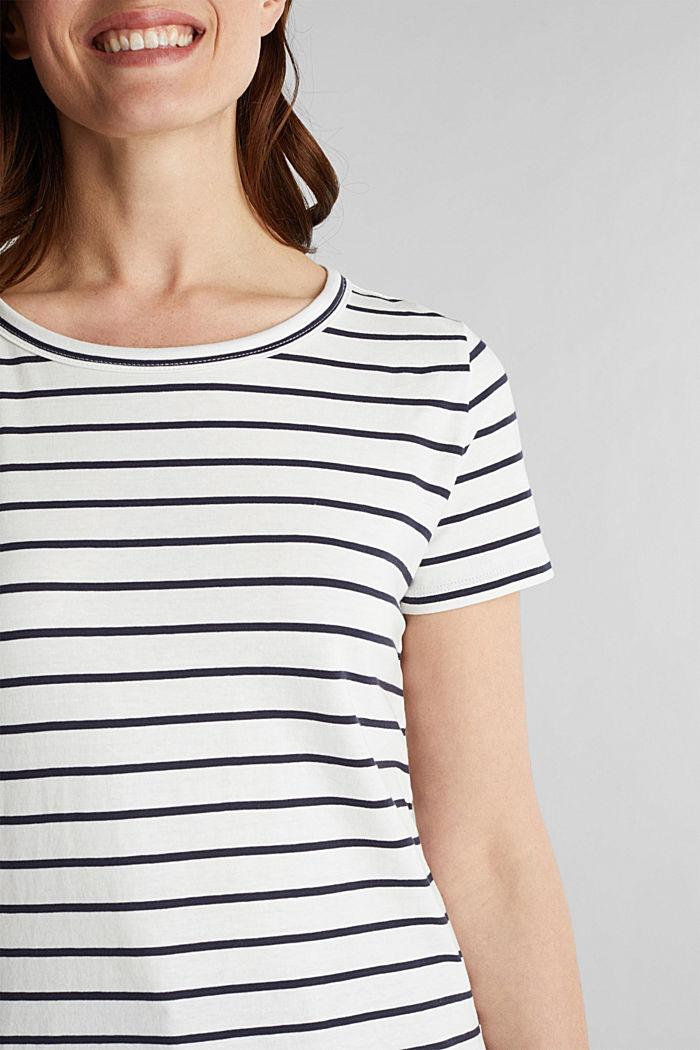 Shirt mit Streifen, 100% Baumwolle, OFF WHITE, detail image number 2