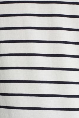 T-shirt with stripes, 100% cotton, OFF WHITE, detail