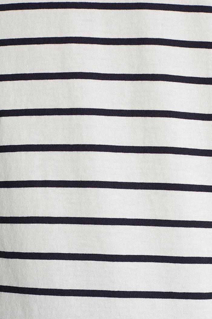 Shirt mit Streifen, 100% Baumwolle, OFF WHITE, detail image number 4