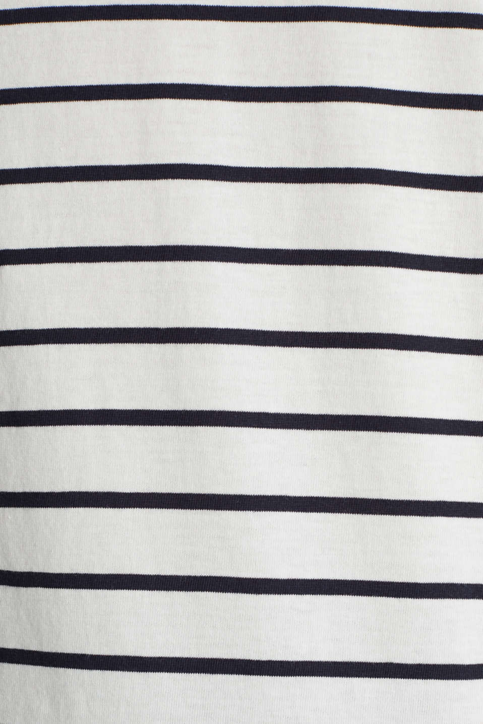 T-shirt with stripes, 100% cotton, OFF WHITE, detail image number 4