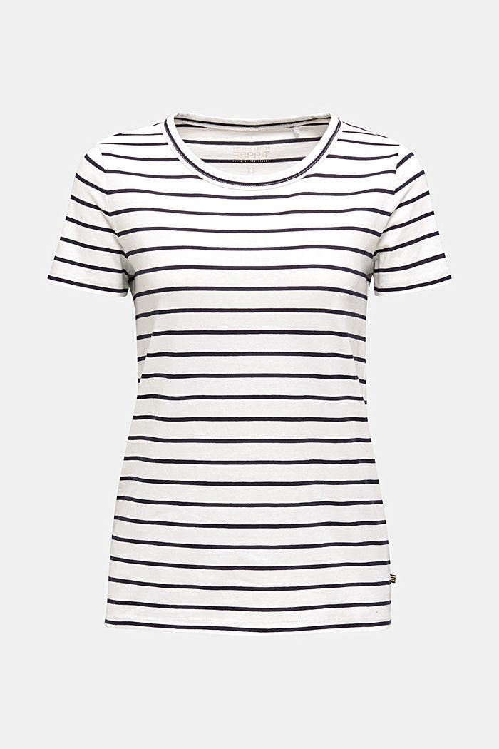 Shirt mit Streifen, 100% Baumwolle, OFF WHITE, detail image number 6