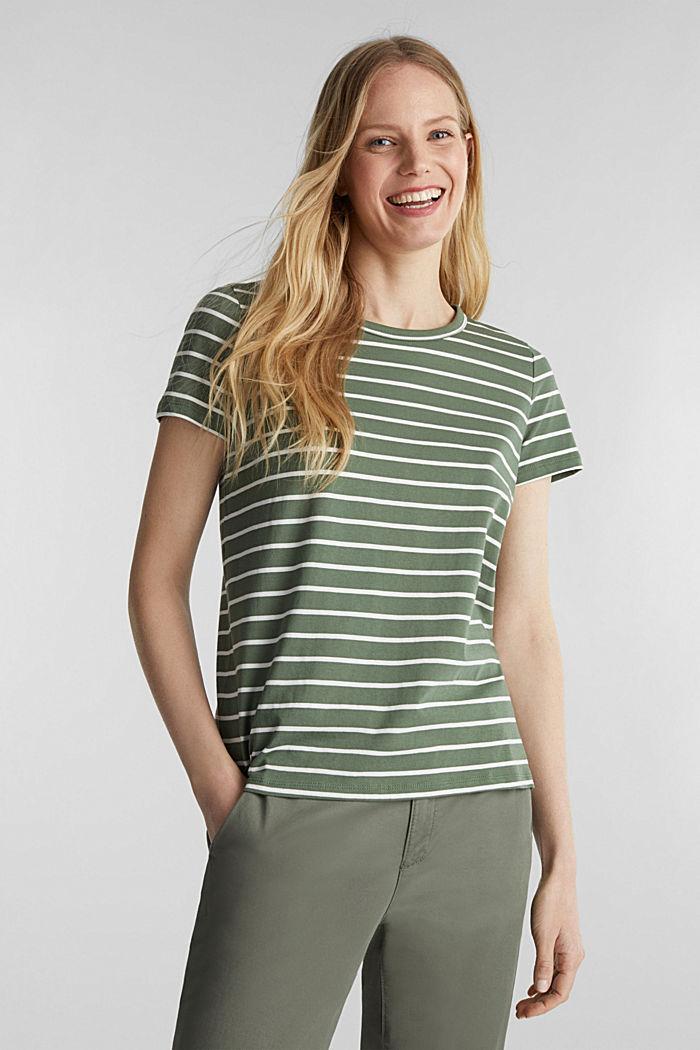 Shirt mit Streifen, 100% Baumwolle