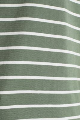 T-shirt with stripes, 100% cotton