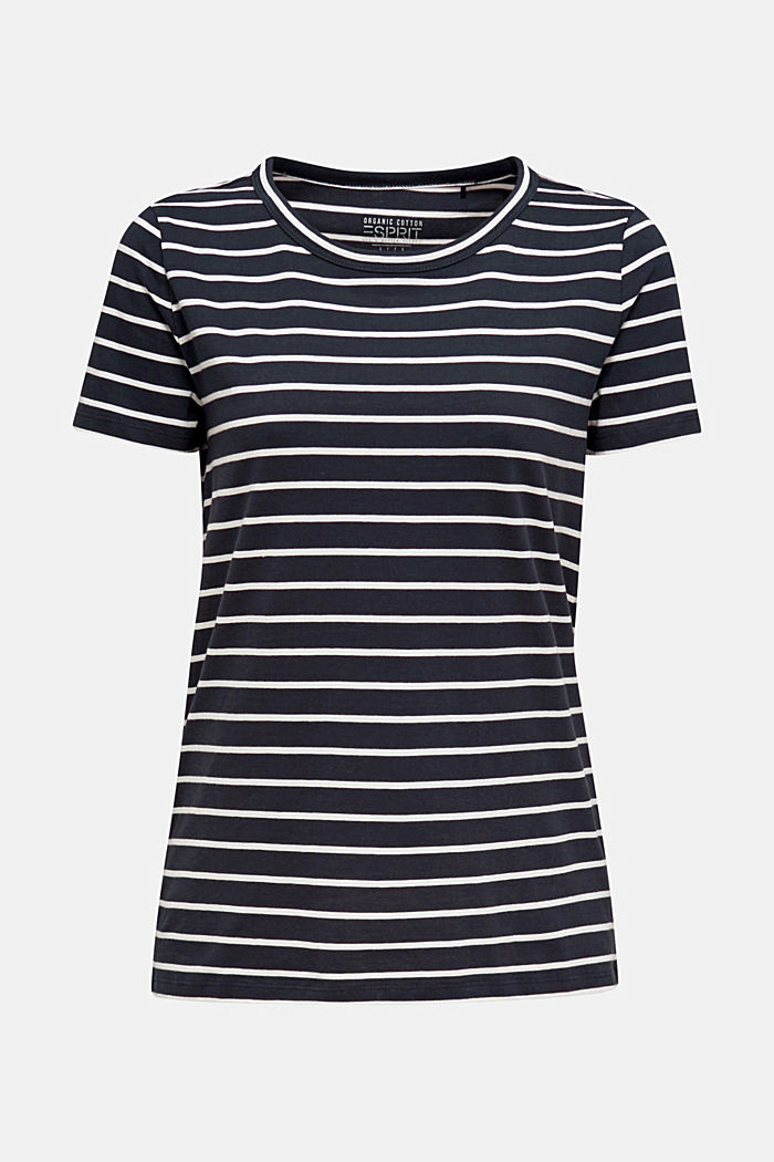 T-shirt with stripes, 100% cotton, NAVY, detail image number 5