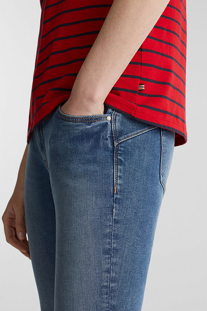 T-shirt with stripes, 100% cotton, DARK RED, detail image number 2