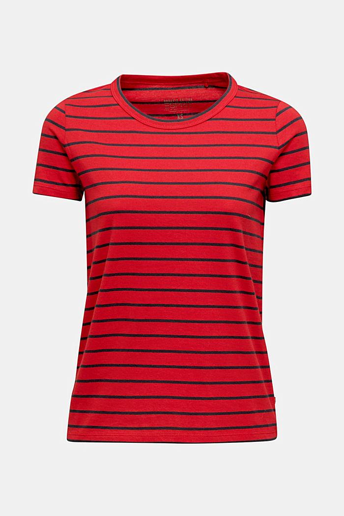 Shirt mit Streifen, 100% Baumwolle, DARK RED, detail image number 6