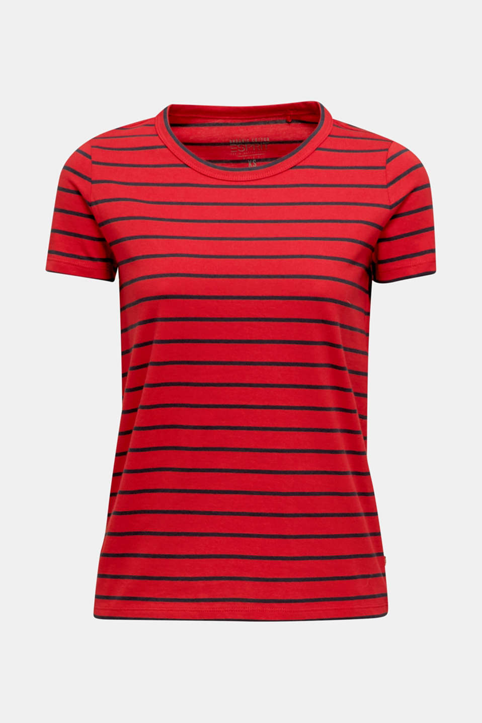 T-shirt with stripes, 100% cotton, DARK RED, detail image number 6