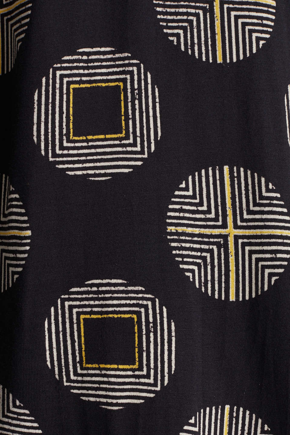 Printed long sleeve top with elastication, BLACK, detail image number 4