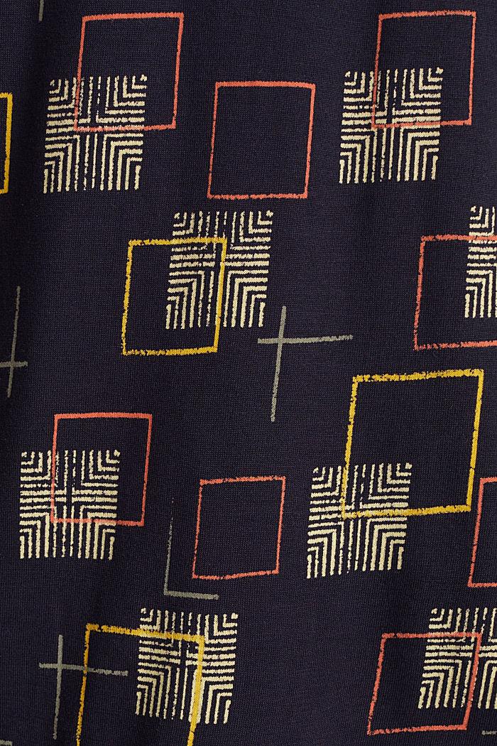Print-Longsleeve mit Gummizügen, NAVY, detail image number 4