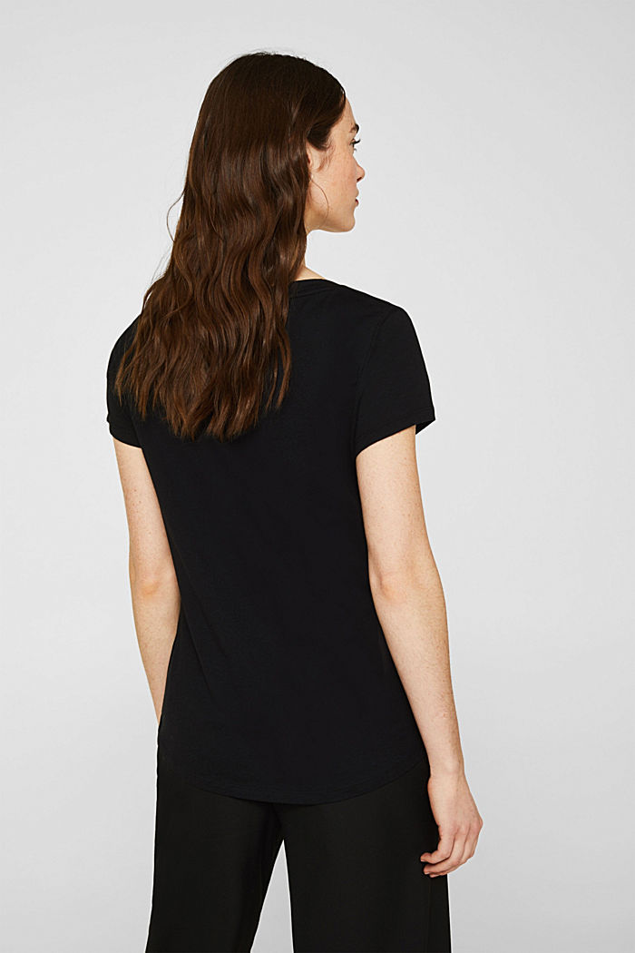 2er-Pack: T-Shirts aus Baumwoll-Mix, BLACK, detail image number 2