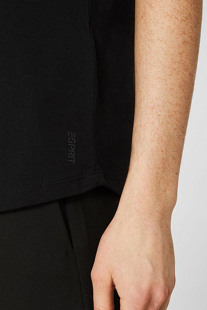 2er-Pack: T-Shirts aus Baumwoll-Mix, BLACK, detail image number 6