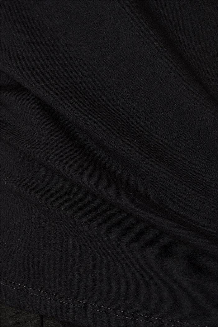 2er-Pack: T-Shirts aus Baumwoll-Mix, BLACK, detail image number 3